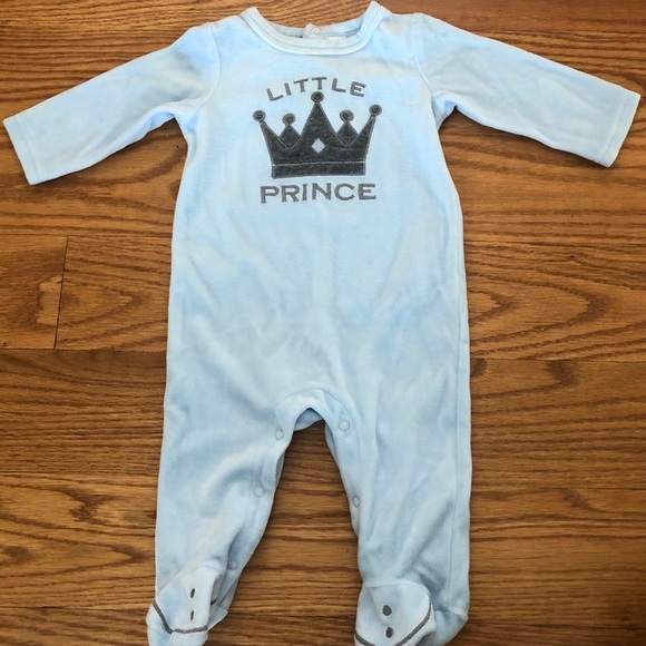 First Impressions Other - Little Prince Baby Onesie in Blue - Soft Fleece